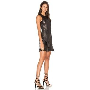 PARKER Abby Leather Dress